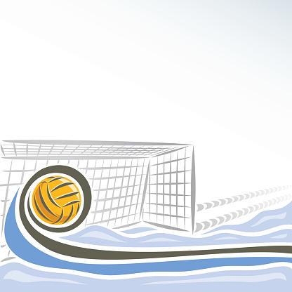 Vector abstract Water Polo goal
