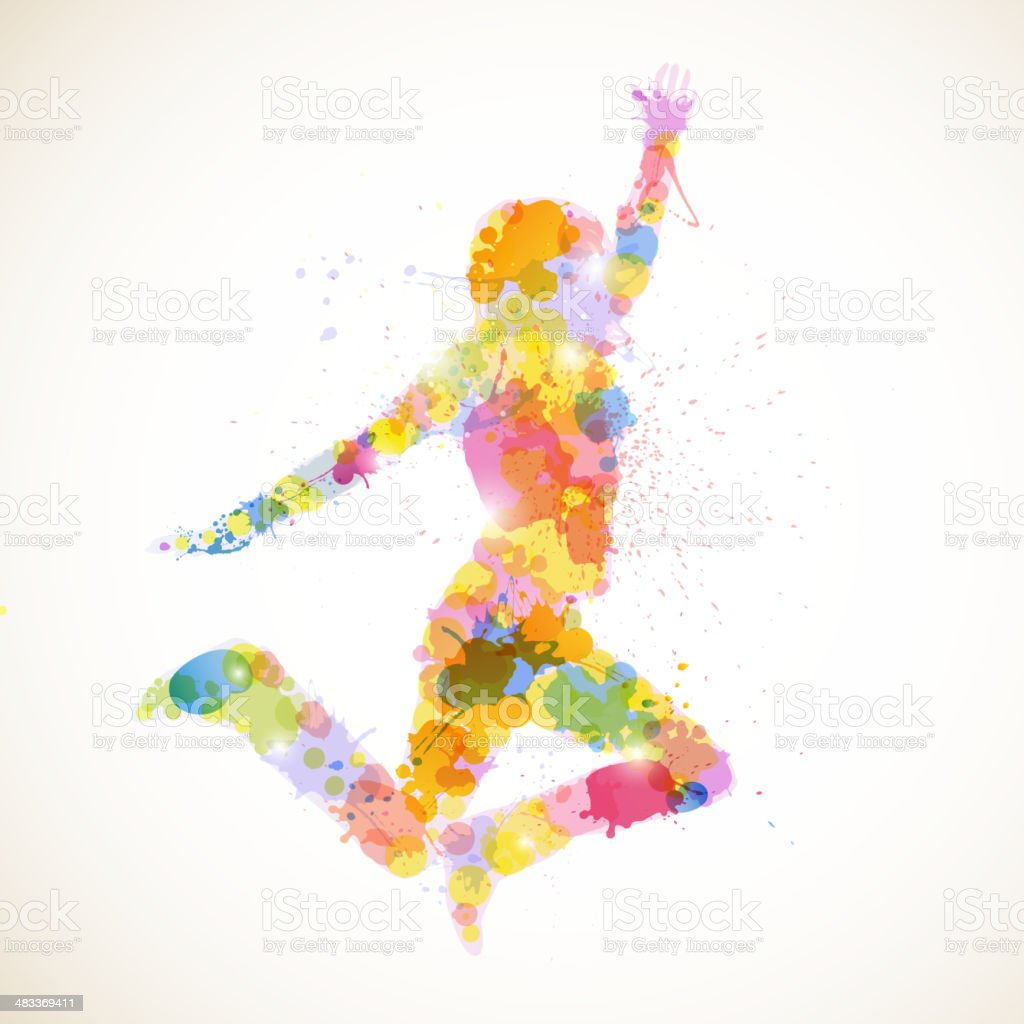 Vector Abstract Woman vector art illustration