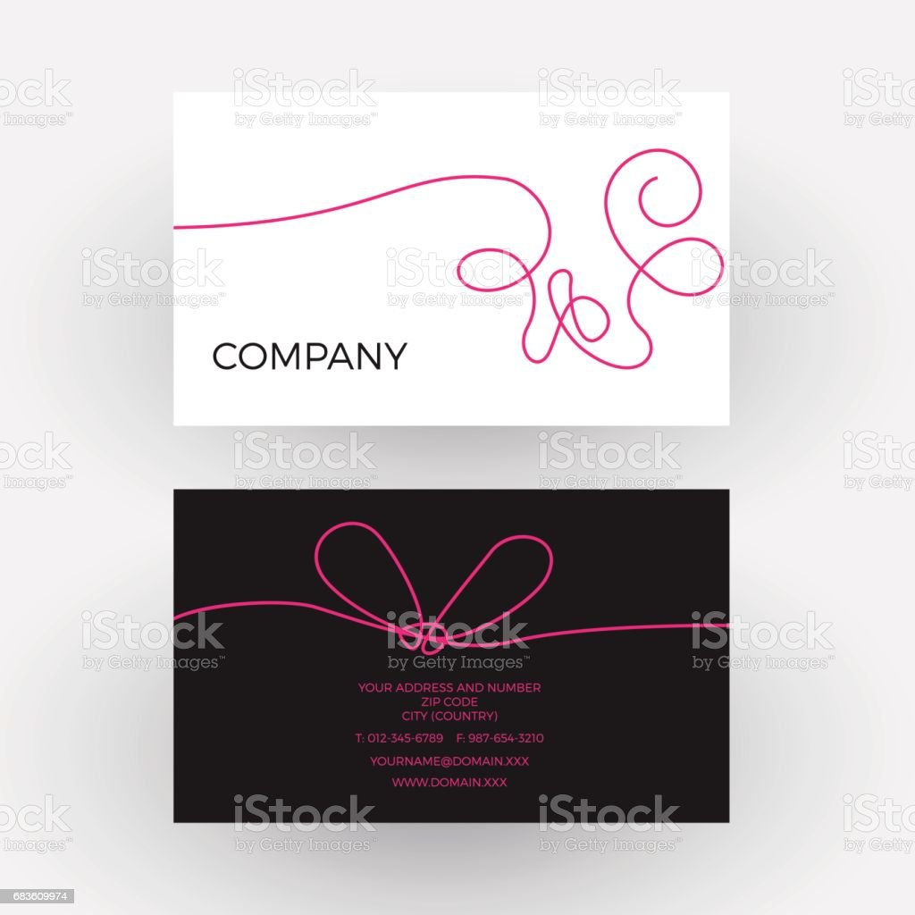 Vector abstract woolen thread. Business card vector art illustration