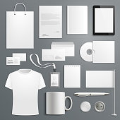 Vector accessory templates for business branding