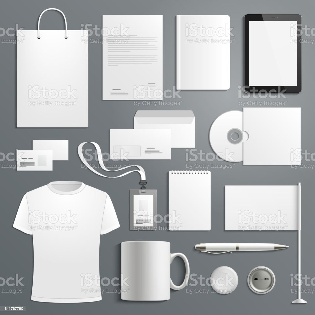 Vector accessory templates for business branding vector art illustration