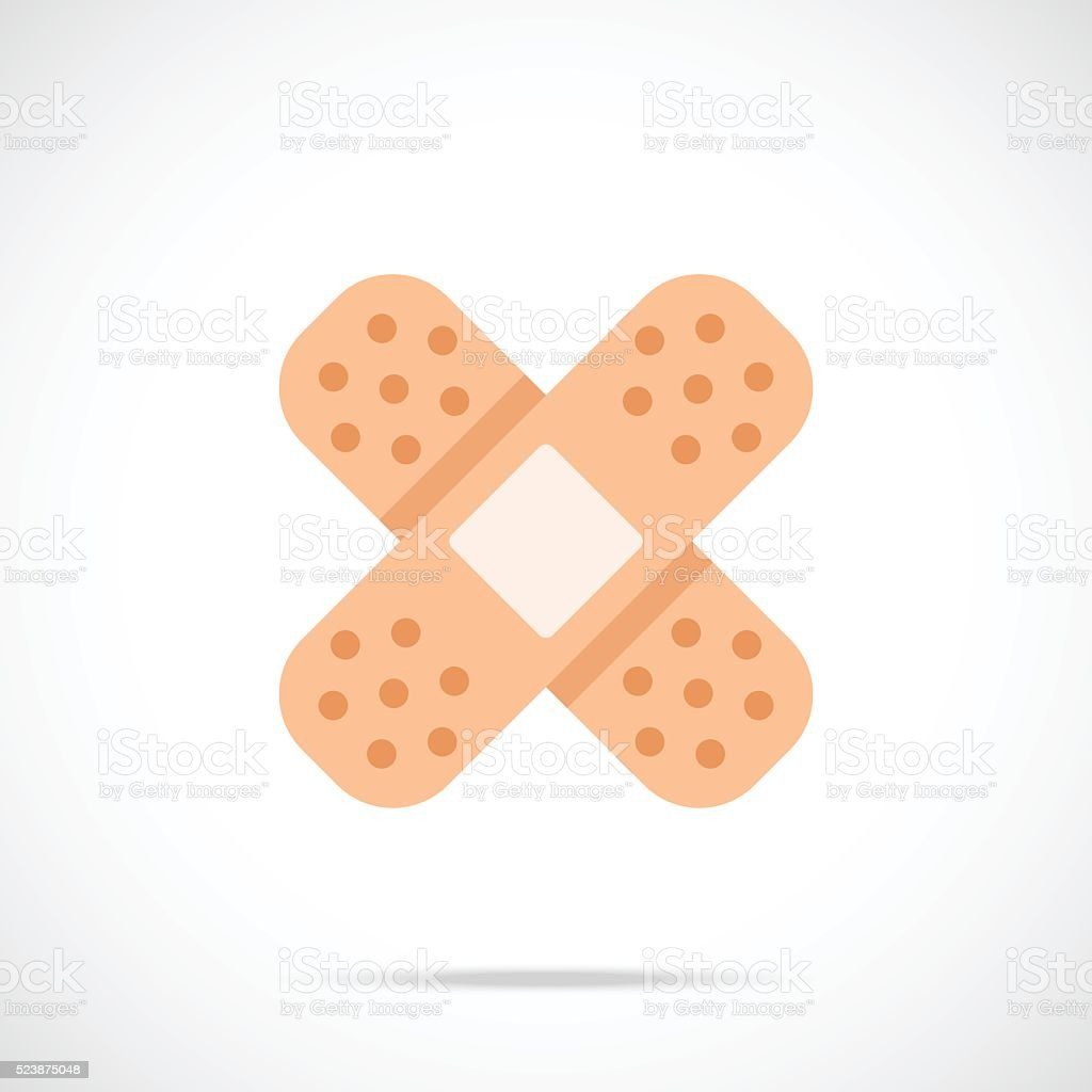 Vector adhesive bandage icon. Modern flat design vector illustration vector art illustration