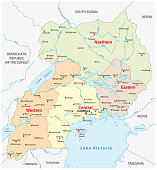 vector administrative and political vector,map of the Republic of Uganda