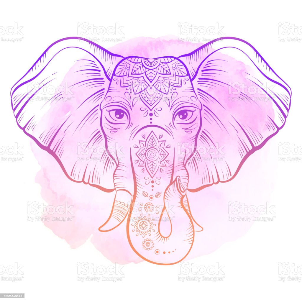 Vektor Afrikanischen Elefanten Im Stil Sketch Happy Holi Traditionelle Indische Festivalillustration Stock Vektor Art Und Mehr Bilder Von Afrikanische