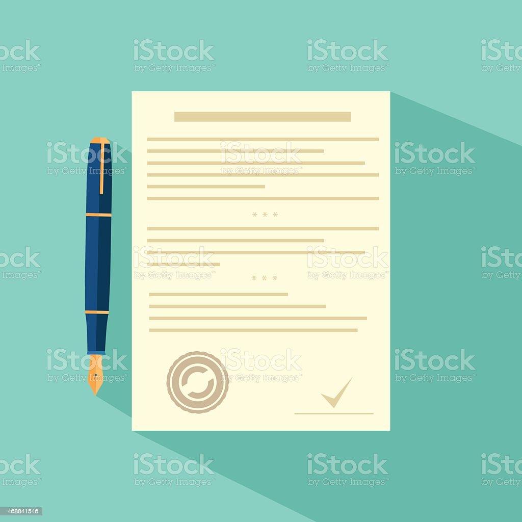 ベクトルのアイコン契約の契約とペン 2015年のベクターアート素材や