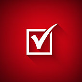 Vector agreement symbols on red background