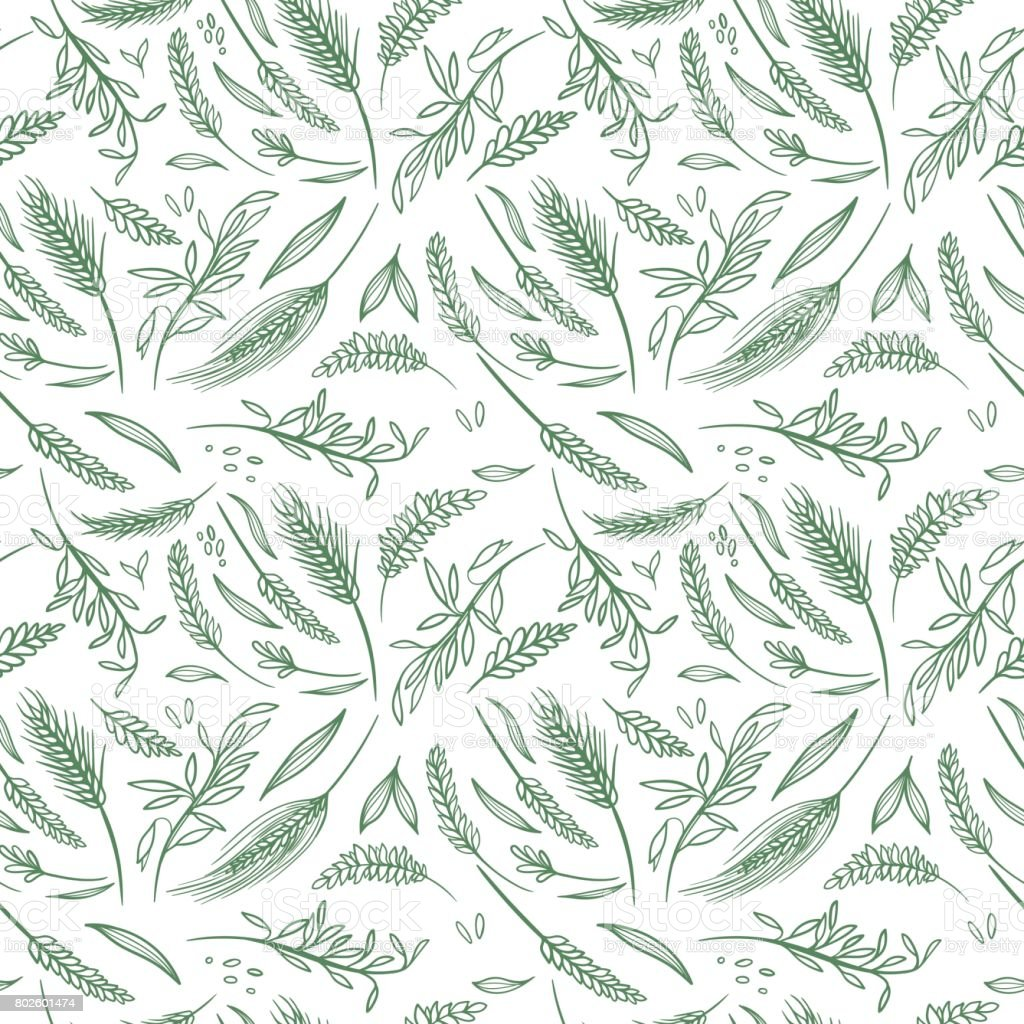 Vector Agriculture Seamless Pattern vector art illustration