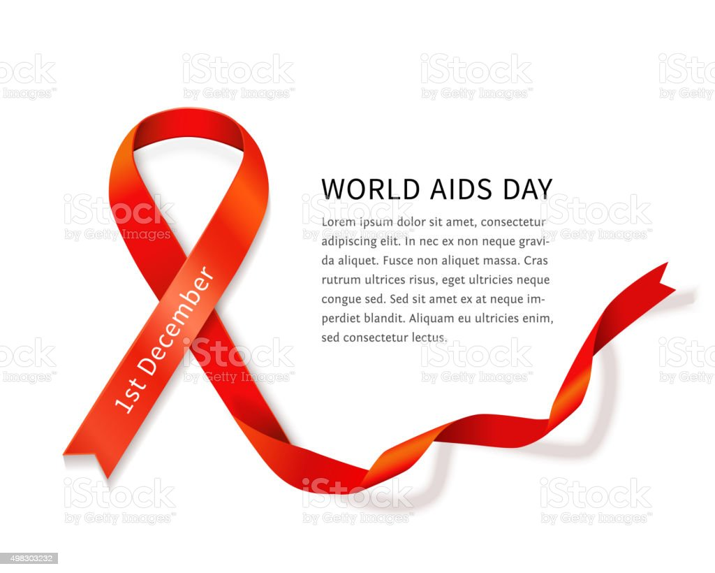 Vector AIDS ribbon vector art illustration