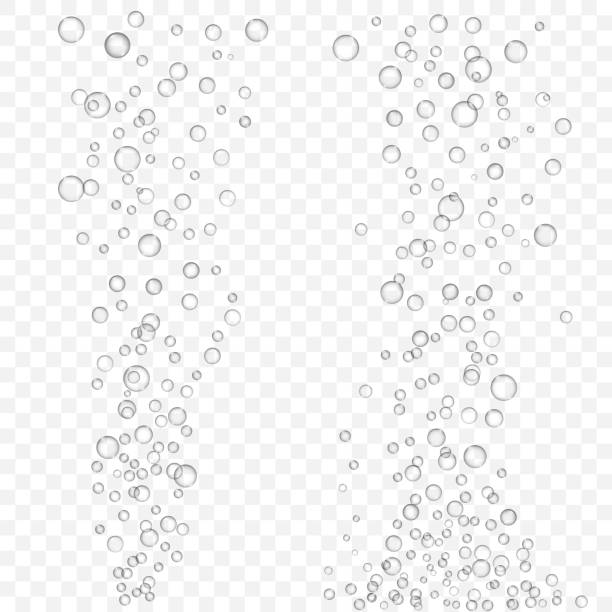 vector air bubbles texture set isolated - alcohol drink silhouettes stock illustrations