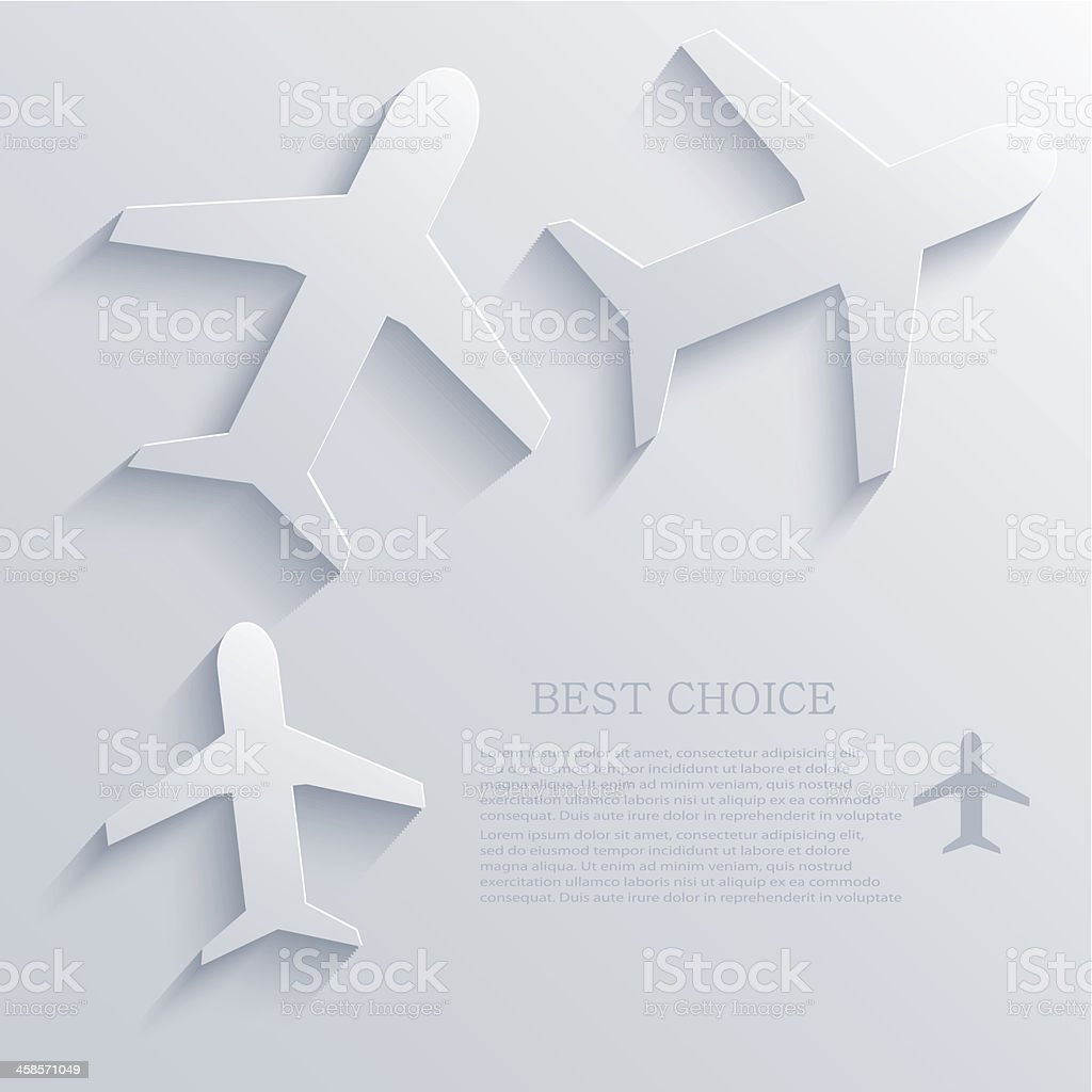 Vector airplane icon background. Eps10 royalty-free stock vector art