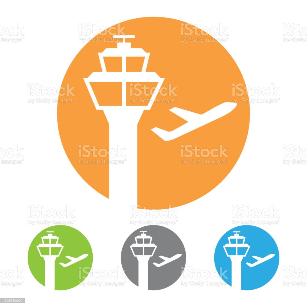 Vector airport tower icon vector art illustration