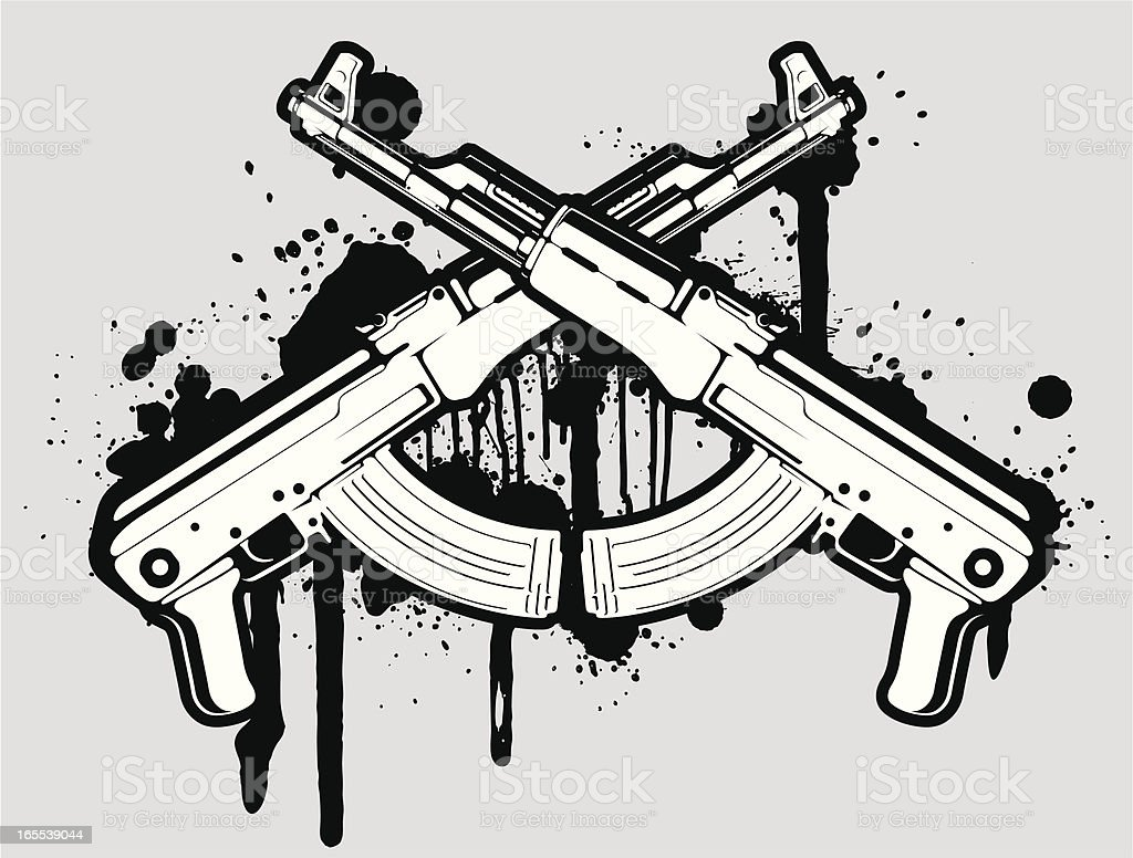 Vector Ak 47 Stock Illustration - Download Image Now