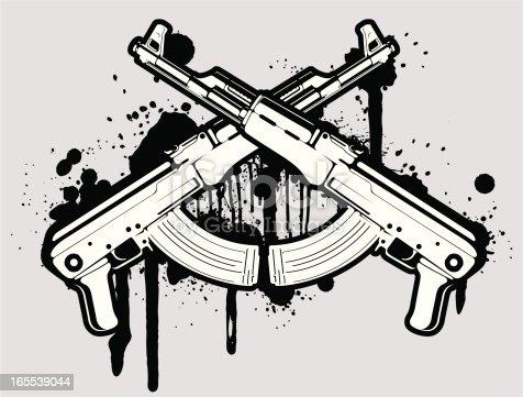 istock vector AK 47 165539044