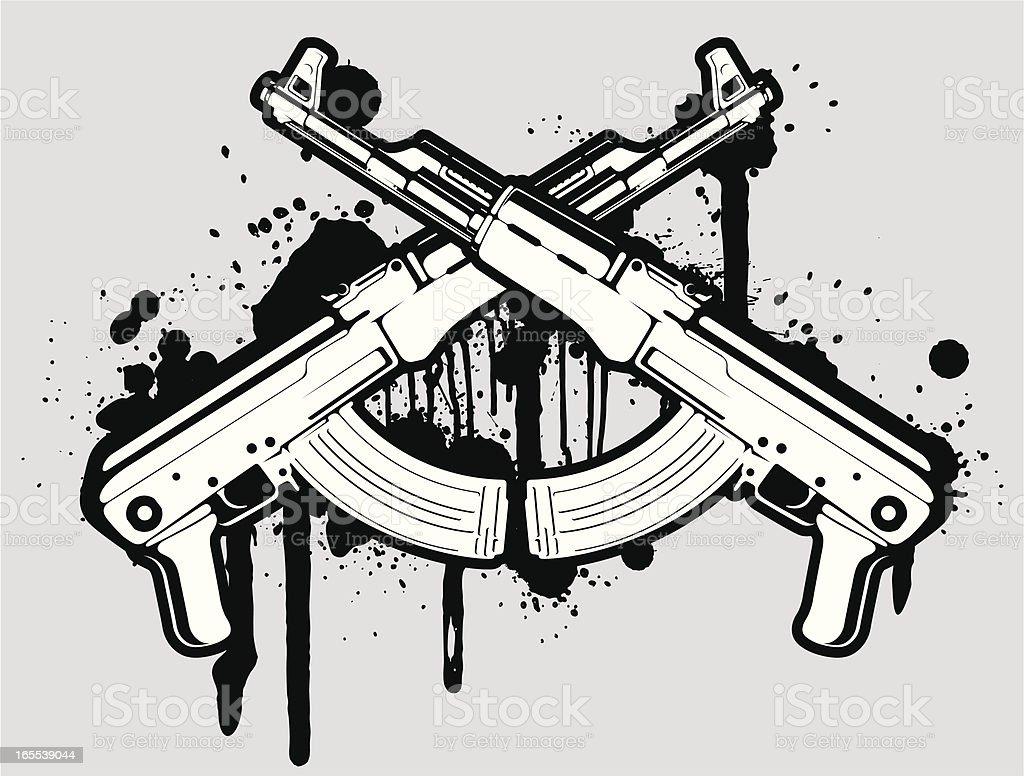 ベクトル AK 47 ベクターアートイラスト
