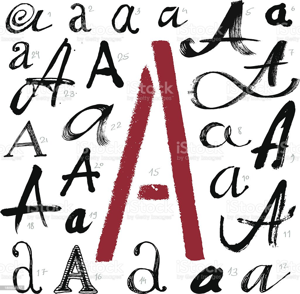Vector alphabet. Letter A. royalty-free vector alphabet letter a stock vector art & more images of alphabet