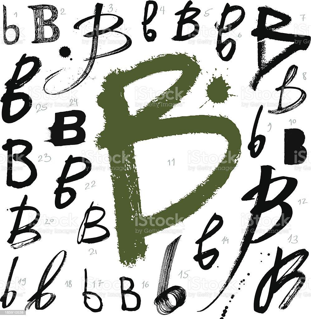 Vector alphabet. Letter B. royalty-free vector alphabet letter b stock vector art & more images of alphabet