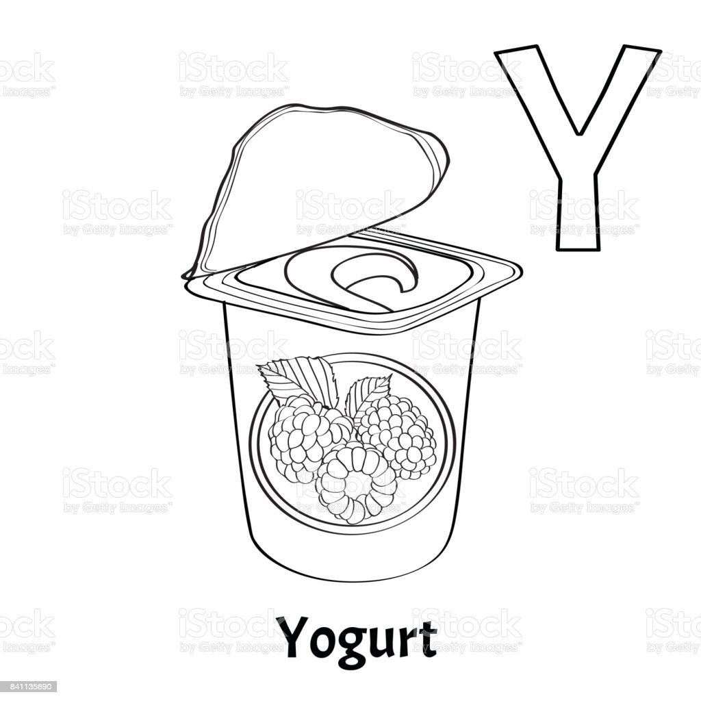 vector alphabet letter y coloring page yogurt royalty free stock vector art
