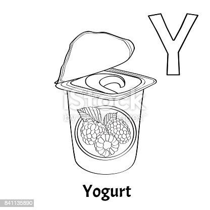 841136336istock Letra Del Alfabeto Vector Y Yogur
