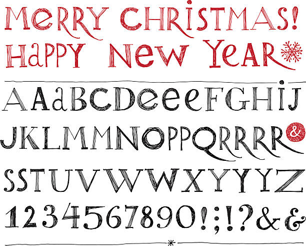 vector alphabet vector art illustration - Christmas Words That Start With S
