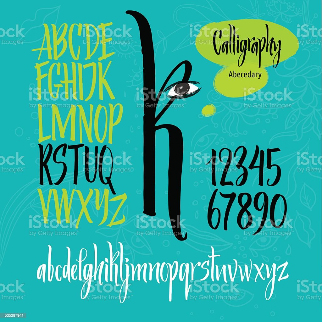 Vector alphabet vector art illustration