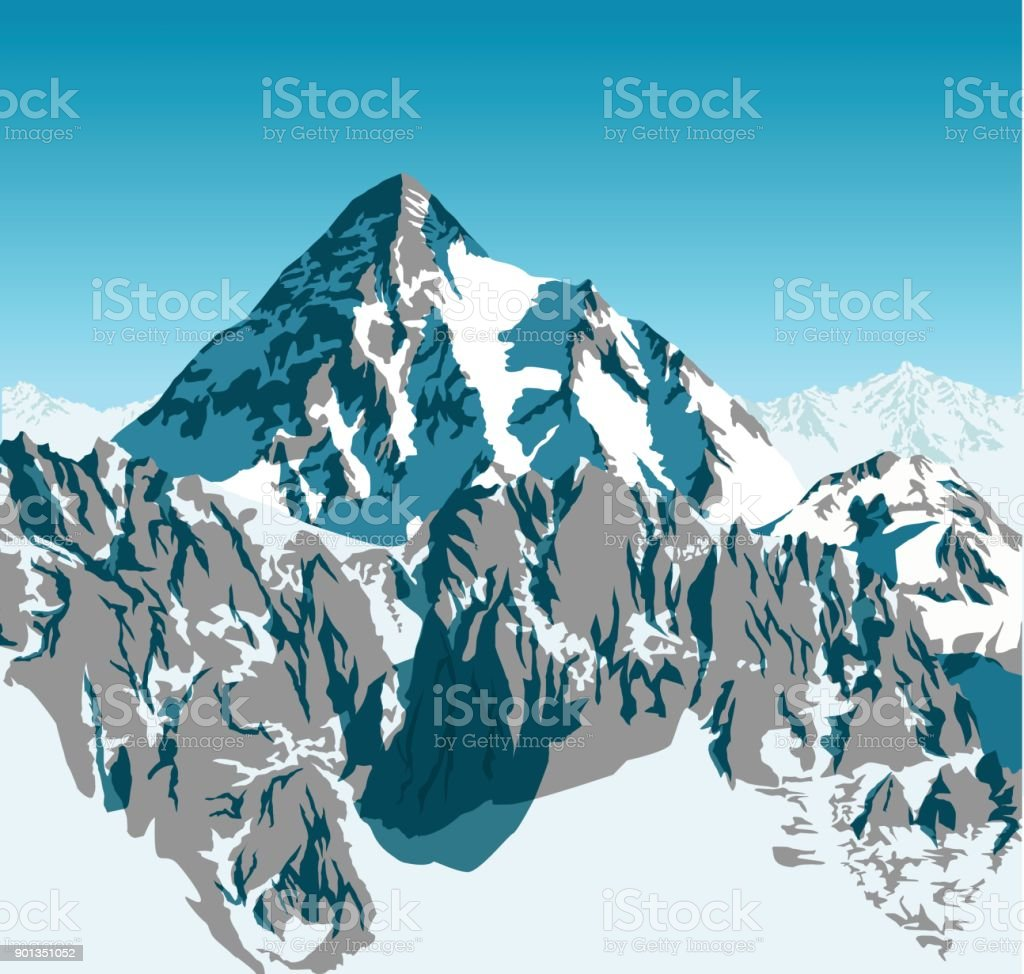 vector alps mountains background vector art illustration