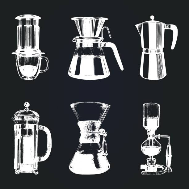 Royalty Free Coffee Brewing Clip Art, Vector Images ...