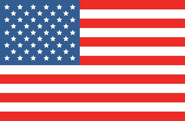 wektor amerykańska flaga - us flag stock illustrations