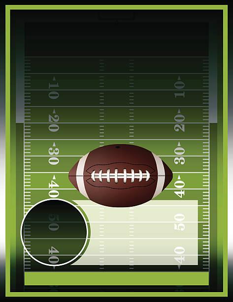 ilustrações de stock, clip art, desenhos animados e ícones de vector poster e campo de futebol americano - primeiro down futebol americano