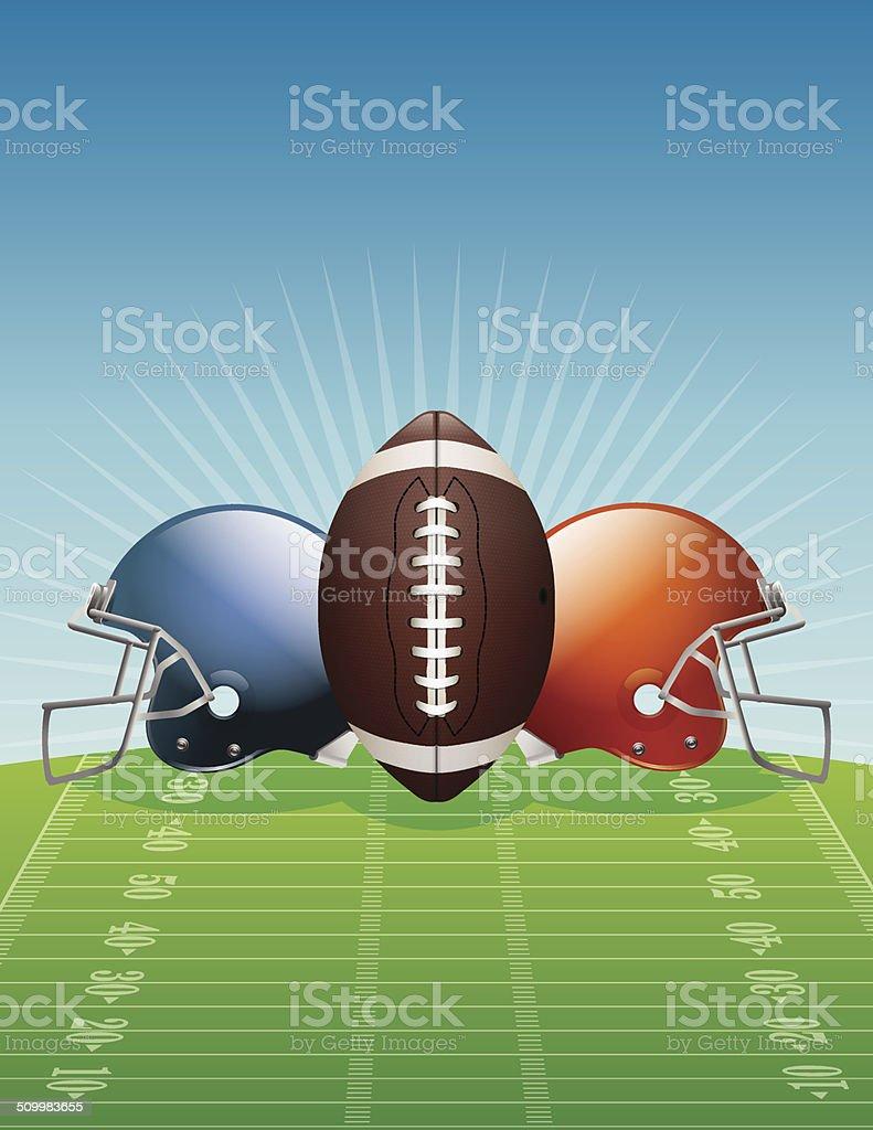 Vector American Football Background Illustration vector art illustration