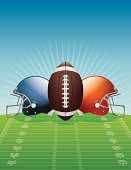 Vector American Football Background Illustration