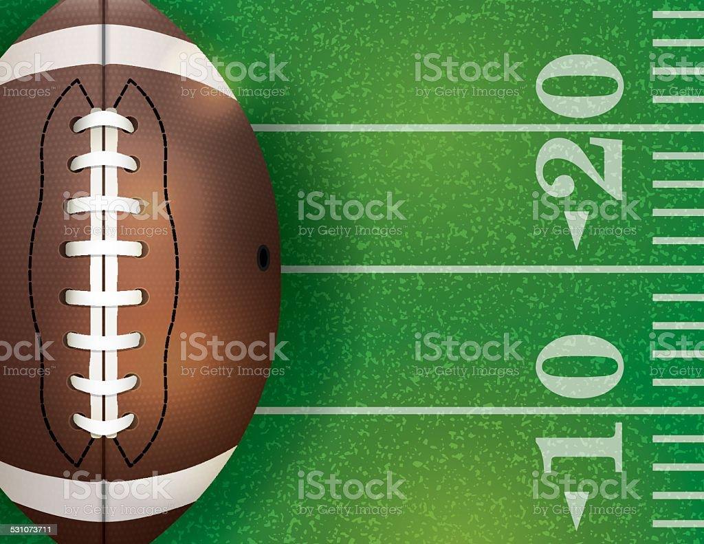 Vector American Football Ball and Field Illustration vector art illustration