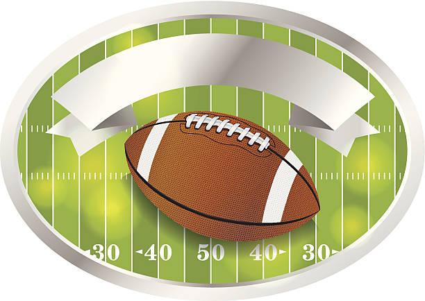 ilustrações de stock, clip art, desenhos animados e ícones de vector e emblema emblema de futebol americano - primeiro down futebol americano