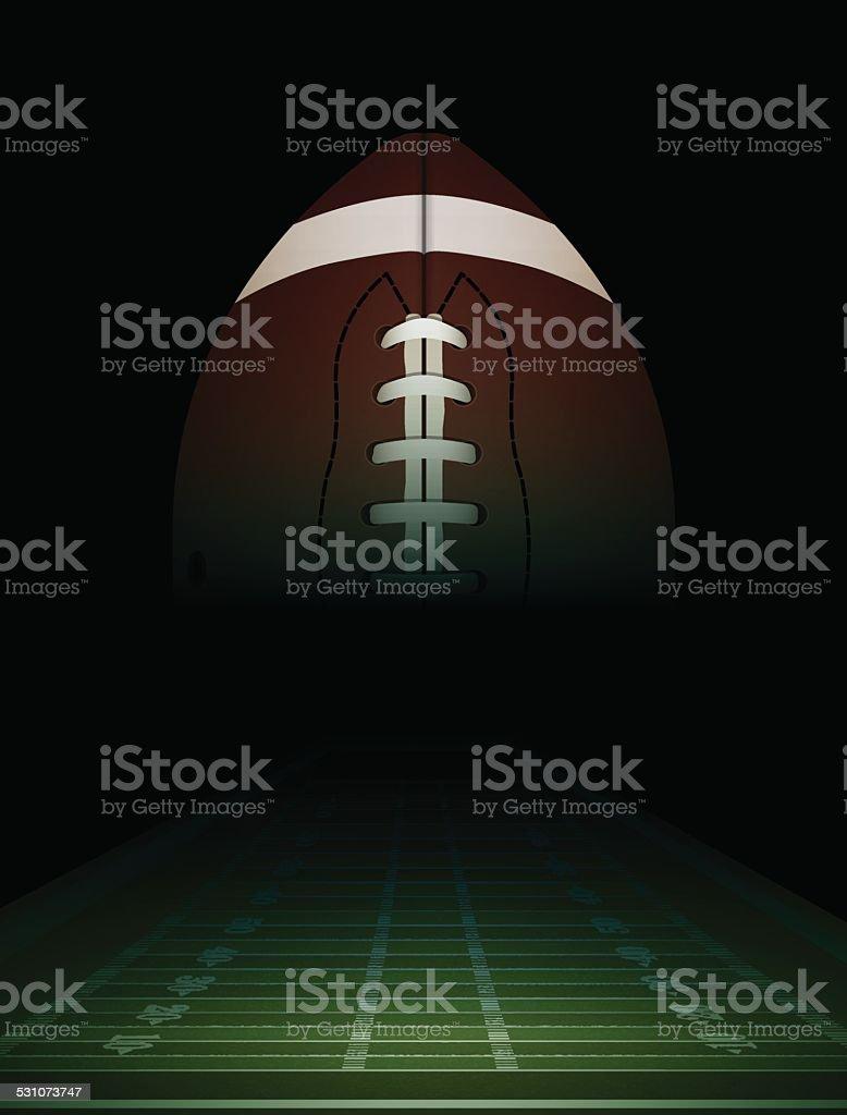 Vector American Football Field and Ball Illustration vector art illustration