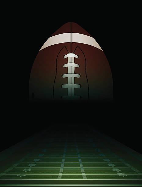 ilustrações de stock, clip art, desenhos animados e ícones de vector campo de futebol americano com bola e ilustração - primeiro down futebol americano