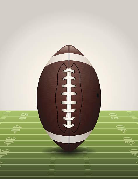ilustrações de stock, clip art, desenhos animados e ícones de vector futebol americano no campo de relva ilustração - primeiro down futebol americano