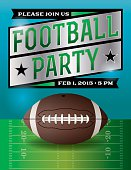 Vector American Football Party Illustration