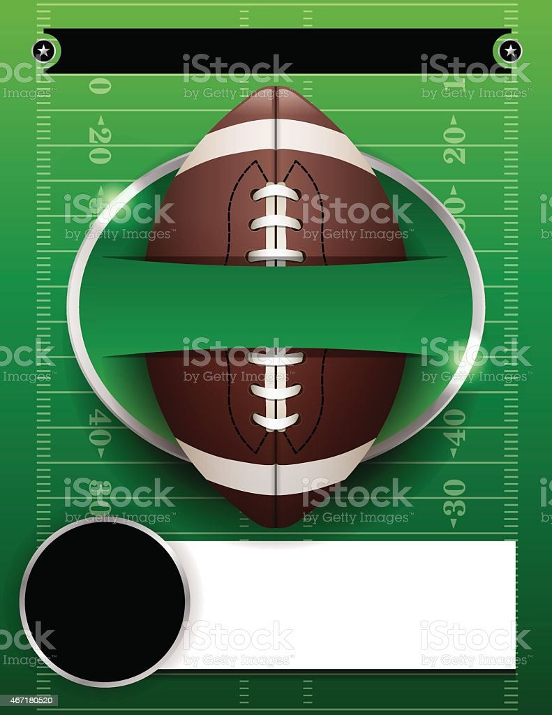 Vector American Football Party Template Illustration vector art illustration