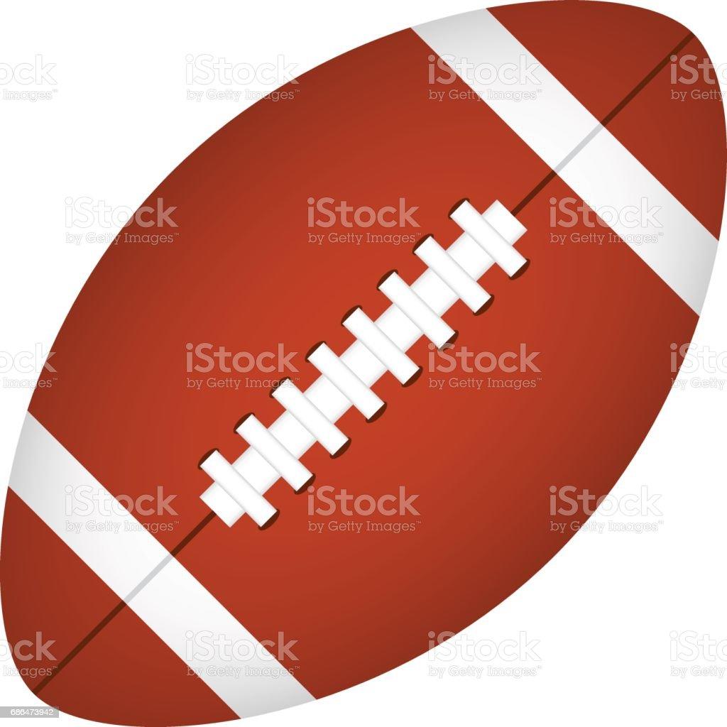 vector american football vector art illustration
