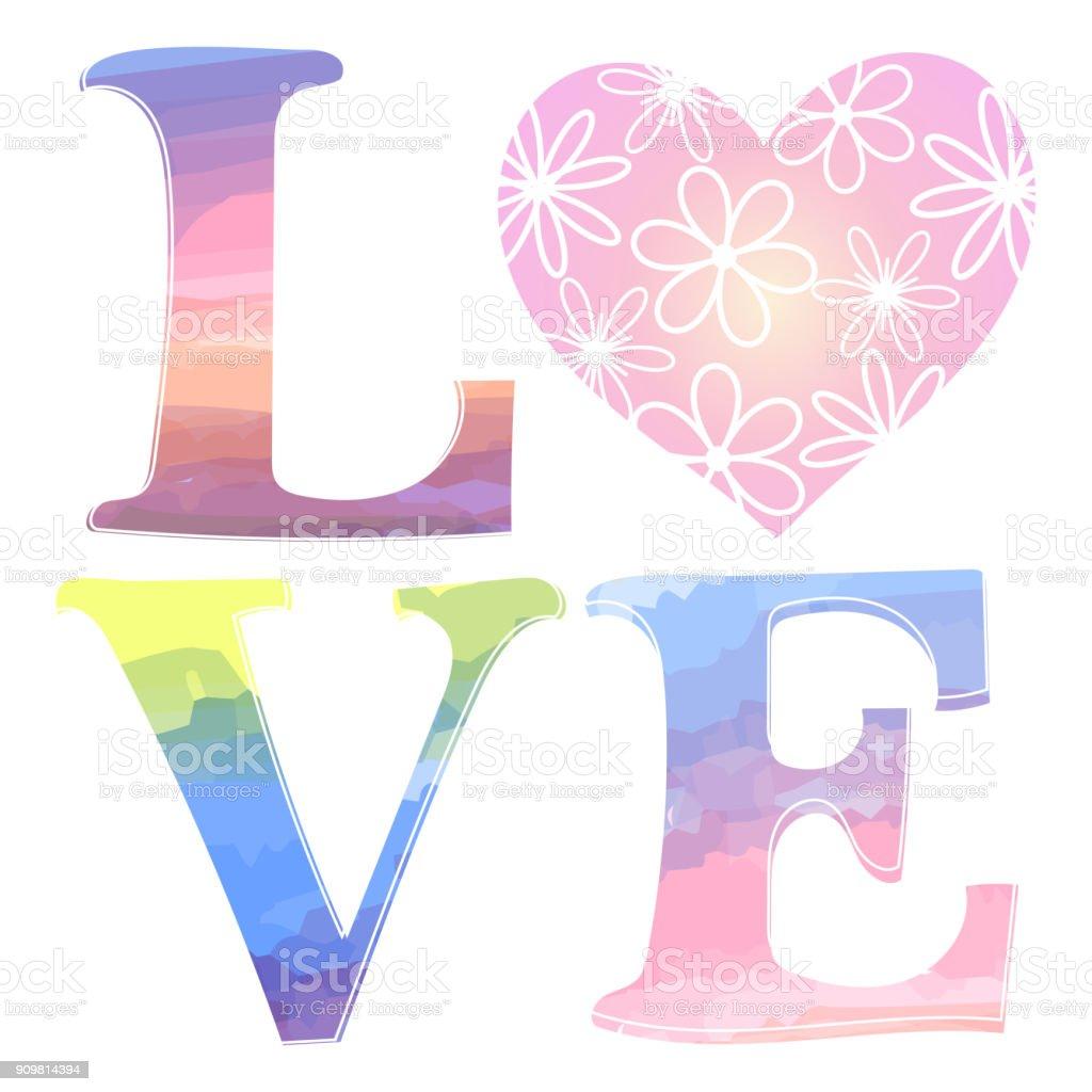 Vecteur Et Illustration De La Main Dessin Dalphabets Love
