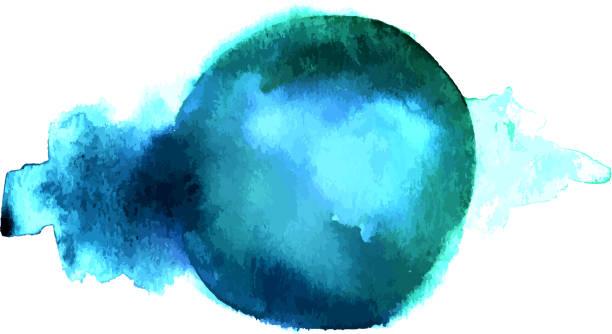 vektor und aquarell blau abstrakt hintergrundtextur - bildformate stock-grafiken, -clipart, -cartoons und -symbole