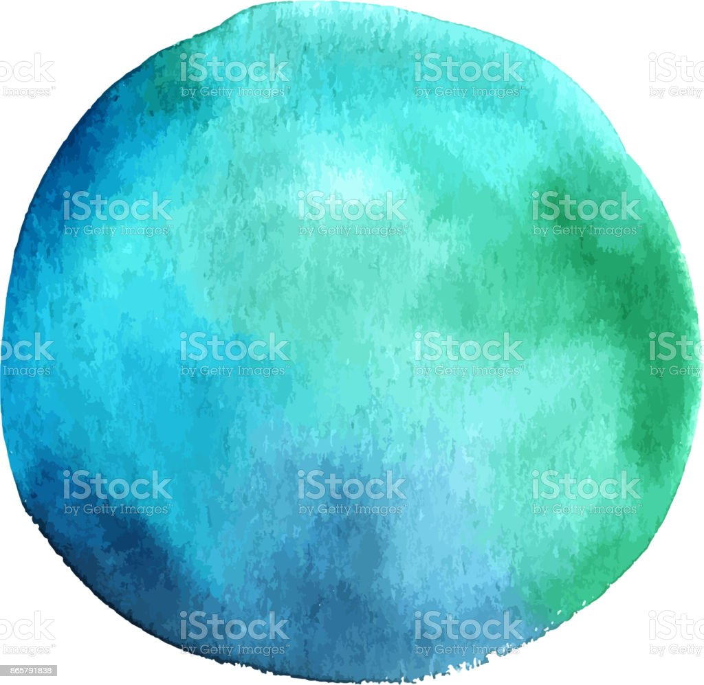 Vector and watercolor teal blue abstract design element vector art illustration
