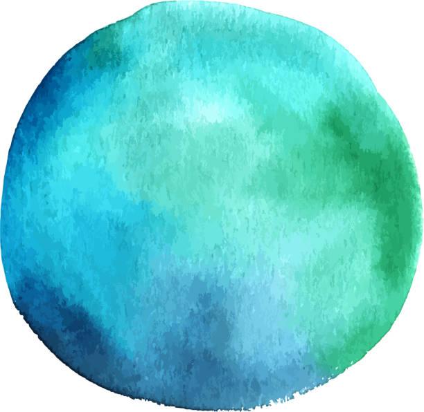 vektor und aquarell blaugrün blau abstrakt design-element - bildformate stock-grafiken, -clipart, -cartoons und -symbole