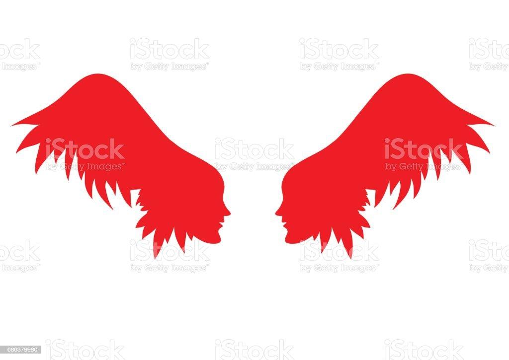 Vecteur des ailes d'ange. - Illustration vectorielle