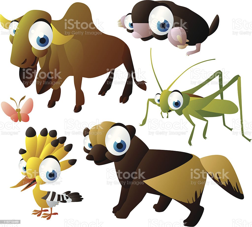 vector animal set royalty-free stock vector art