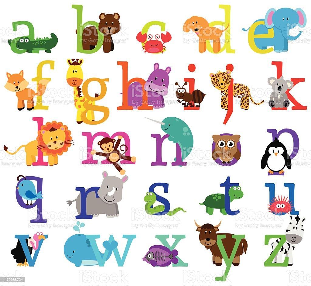 Famosos Vector Alfabeto Com Tema De Animais - Arte vetorial de acervo e  CE31