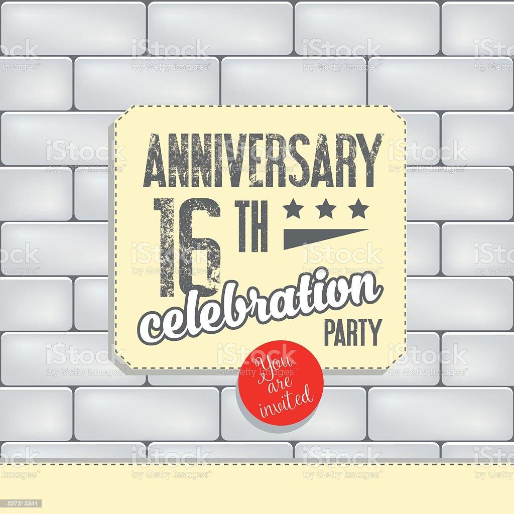 Vector anniversary banner vector art illustration