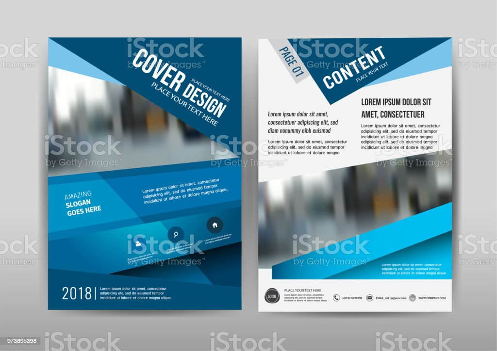 Vector Annual Report Leaflet Brochure Flyer Template A4 Size Design