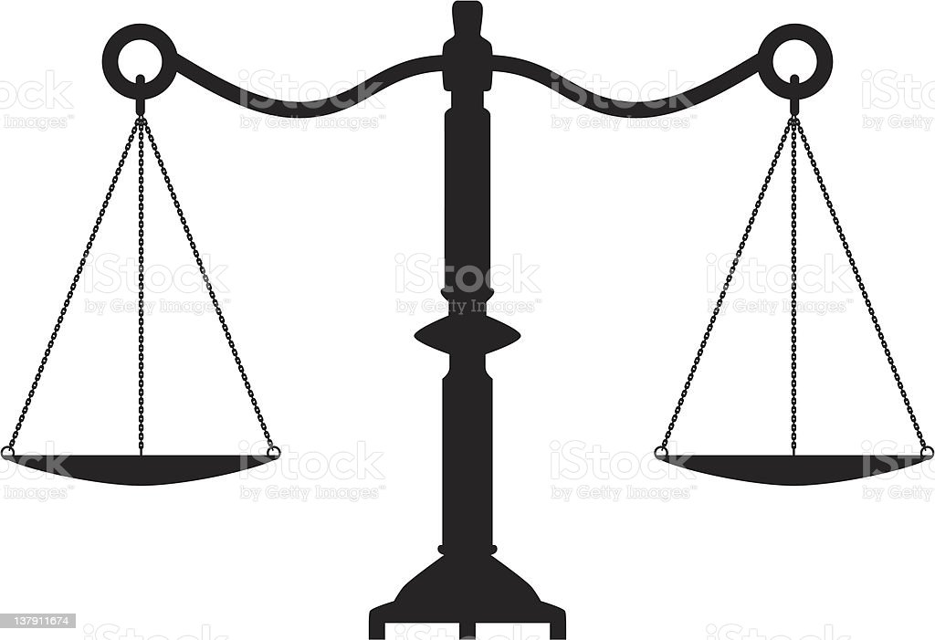 vector antique scales of justice royalty-free stock vector art