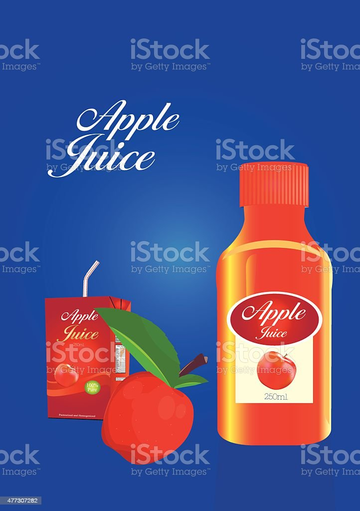 Vektor Apfelsaft Verpackung – Vektorgrafik