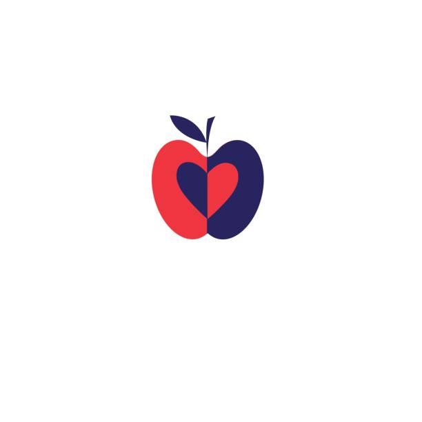 Vektor-Apfel rot-Symbol – Vektorgrafik